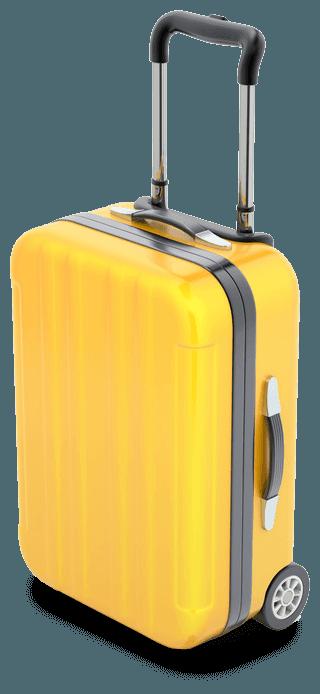 Valigia pronta per raggiungere la meta turistica promossa con il marketing sul web