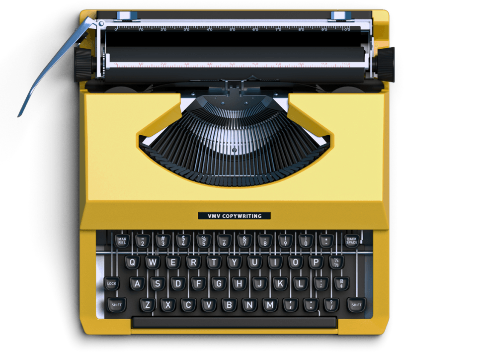 Macchina da scrivere: il copywriting per siti web